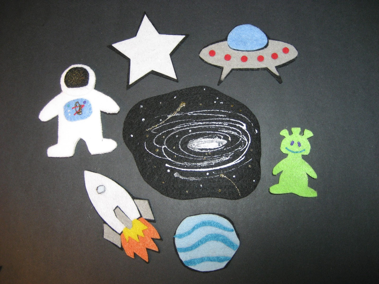Flannel board fun space the final frontier for Space flannel