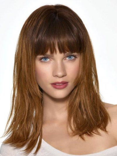 Hair Medium Length Layered Hairstyles with Bangs for Girls