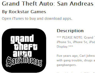 Grand Theft Auto San Andreas in iTunes