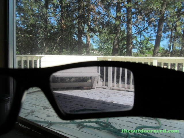 Oakley GasCan Sunglasses: Looking Through Lenses Outdoors