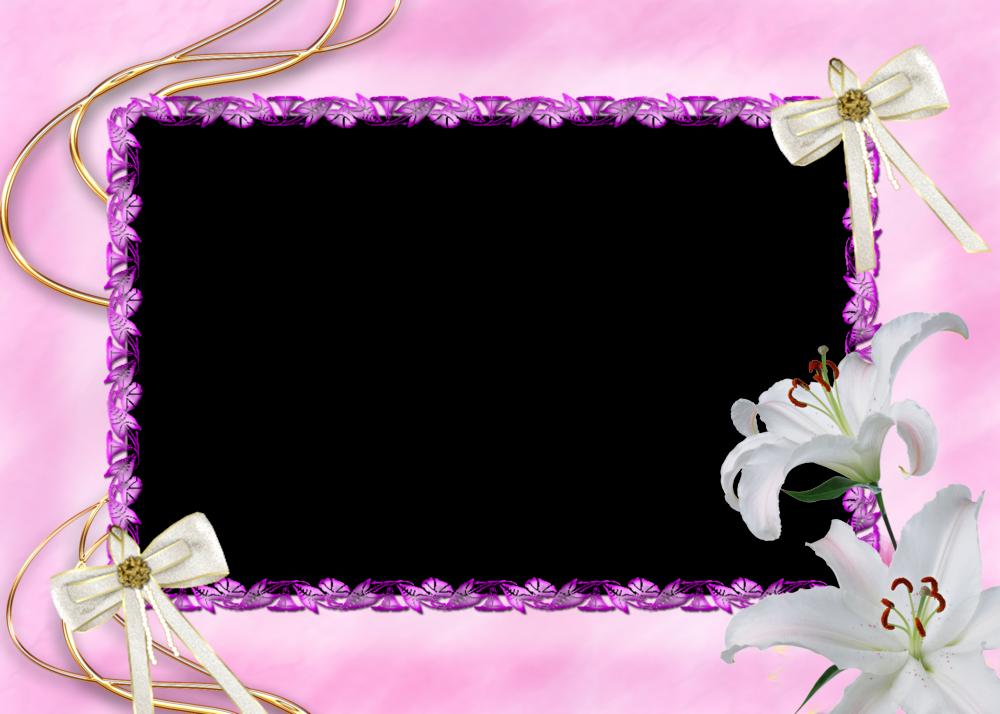 4 hermosos marcos para fotos florales en png 1 parte - Marco 4 fotos ...