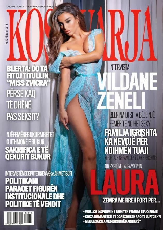 """Vildane Zeneli ne kopertinen e revistes """"Kosovarja"""""""