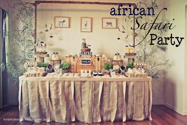Kara 39 s party ideas african safari jungle birthday party for African party decoration ideas