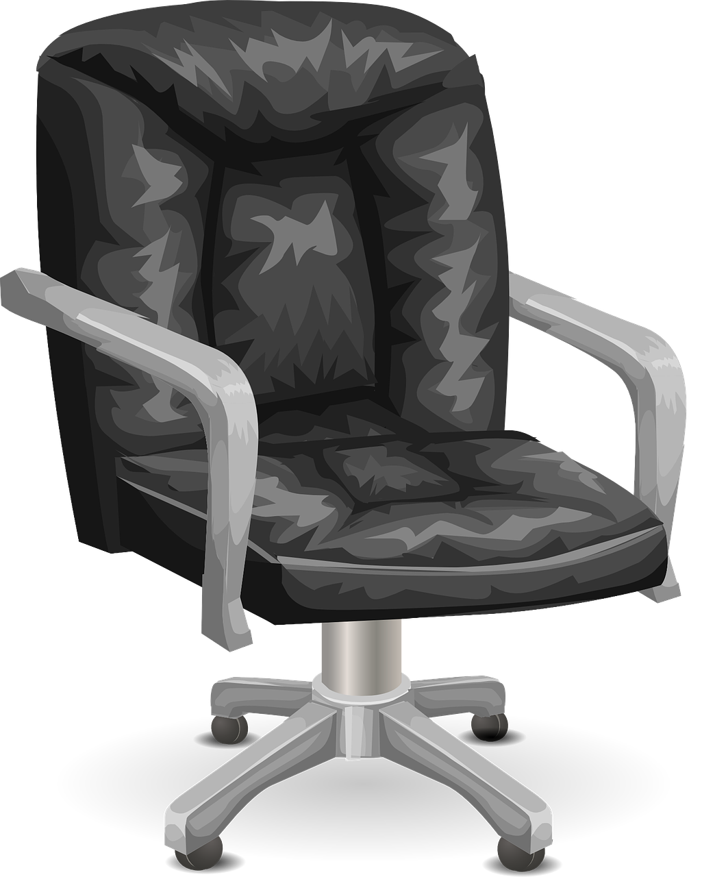 7 Ways You Can Die In A House | Curious Tendency Black Office Chair Back View