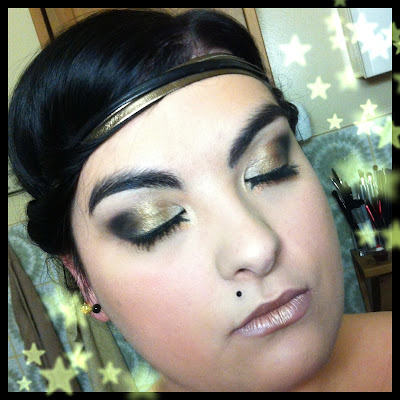 make up bronze doré noir