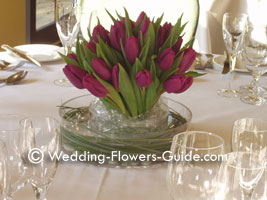 Wedding Decorations,  Tulips Centerpieces and Arrangements