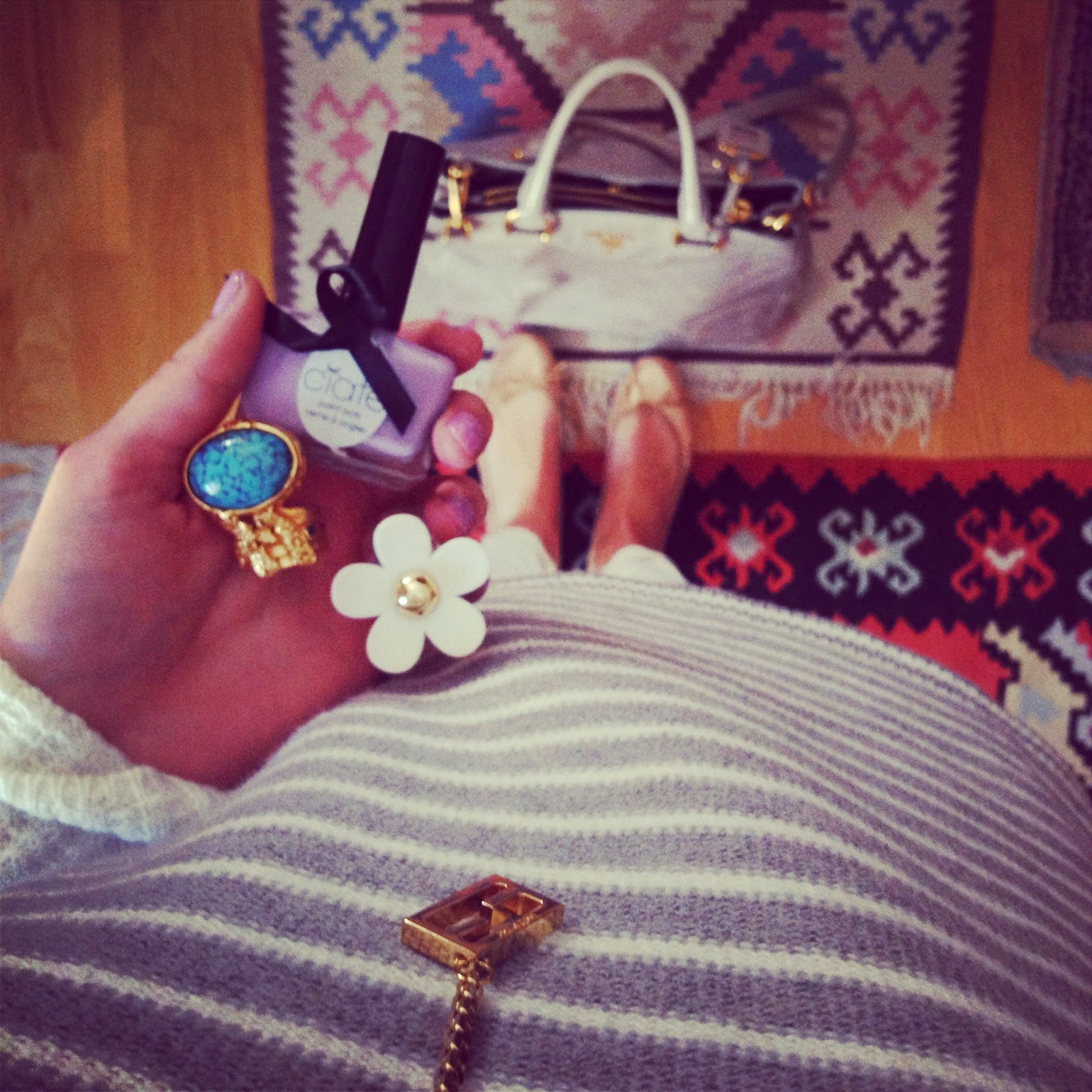 fendi, fendi jewellery, ysl arty, ysl ring, ysl jewellery, gap, gap jumper, french sole, prada bag, gap ss 14