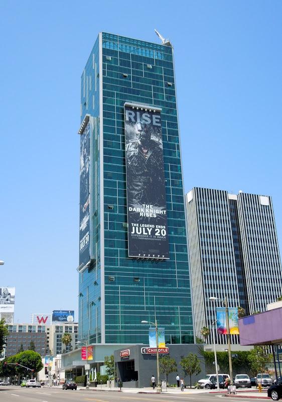 Giant Dark Knight Rises Bane billboard