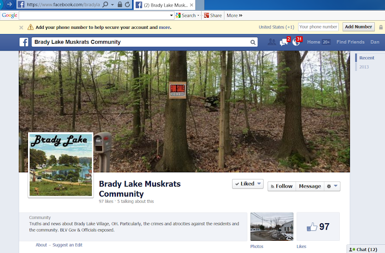 Here's a Face Book site about Brady Lake Village and the lying BLV officials.