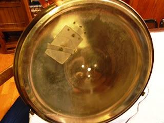 Coperchio della pentola in acciaio inox forato