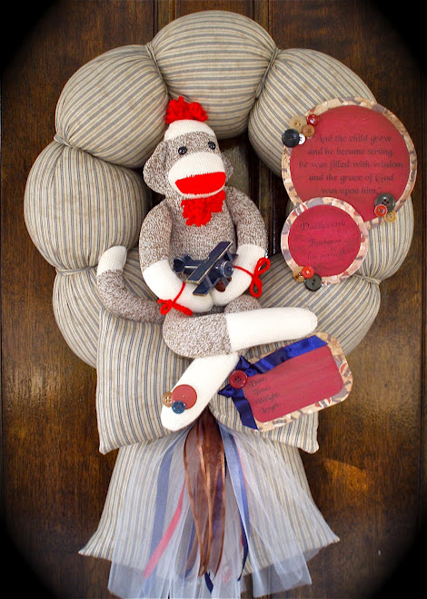 "74. CUSTOM ""SOCK MONKEY"" WREATH"