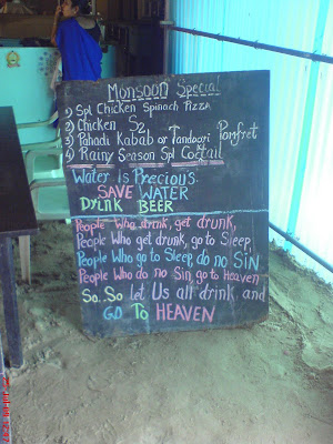 Monsoon special menu in a Goa dhaba
