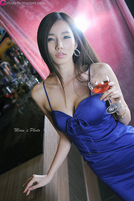 2 Lee Ji Min in Blue-very cute asian girl-girlcute4u.blogspot.com