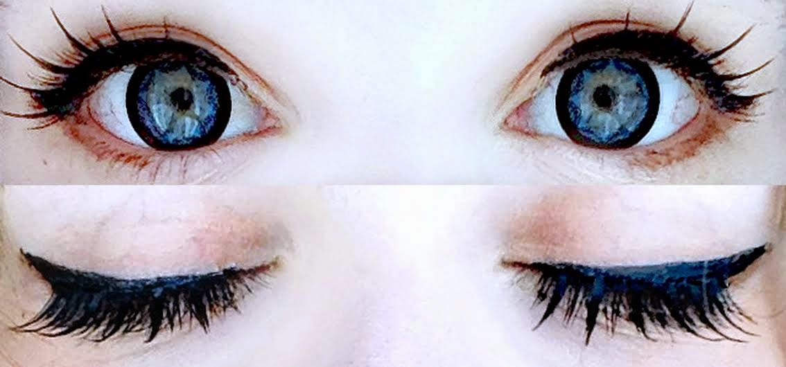 Create Starry & Dramatic Look with I.Fairy Star Blue Colored Lenses & Stella False Eyelashes