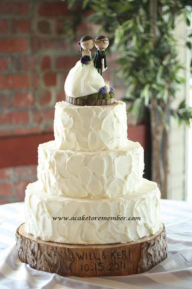 A Cake To Remember VA Rustic Wedding Cakes Need No Cake Board
