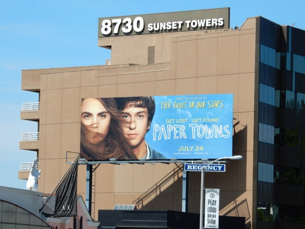 Paper Towns film billboard