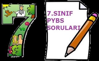 7.SINIF PYBS MATEMATİK SORULARI