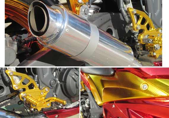 Modifikasi Yamaha R25 2014 Merah Bergaya Iron Man