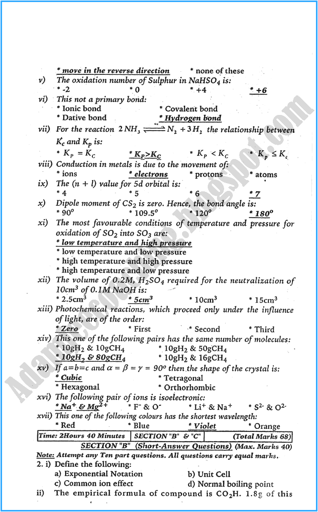 xi-chemistry-past-year-paper-2015