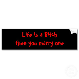 life is bitch then you marry one quote
