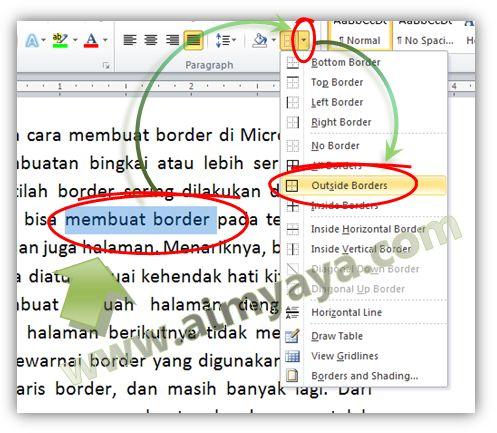 Gambar: Cara mudah membuat border di Ms Word 2010