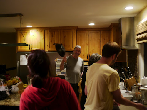 Residents in the kitchen