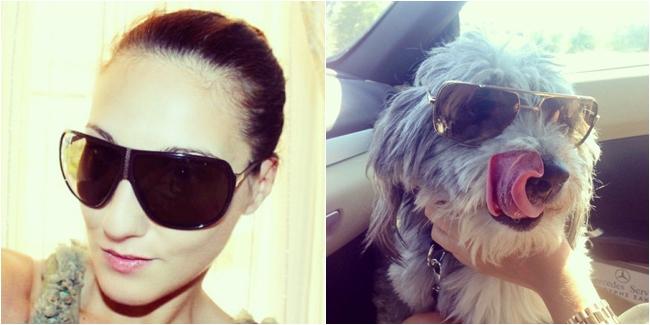 Instagram @lelazivanovic. Valentino sunglasses. Dita sunglasses.