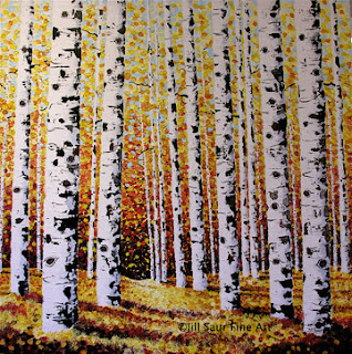 aspen trees painting, aspen art galleries, aspen painting, Aspen
