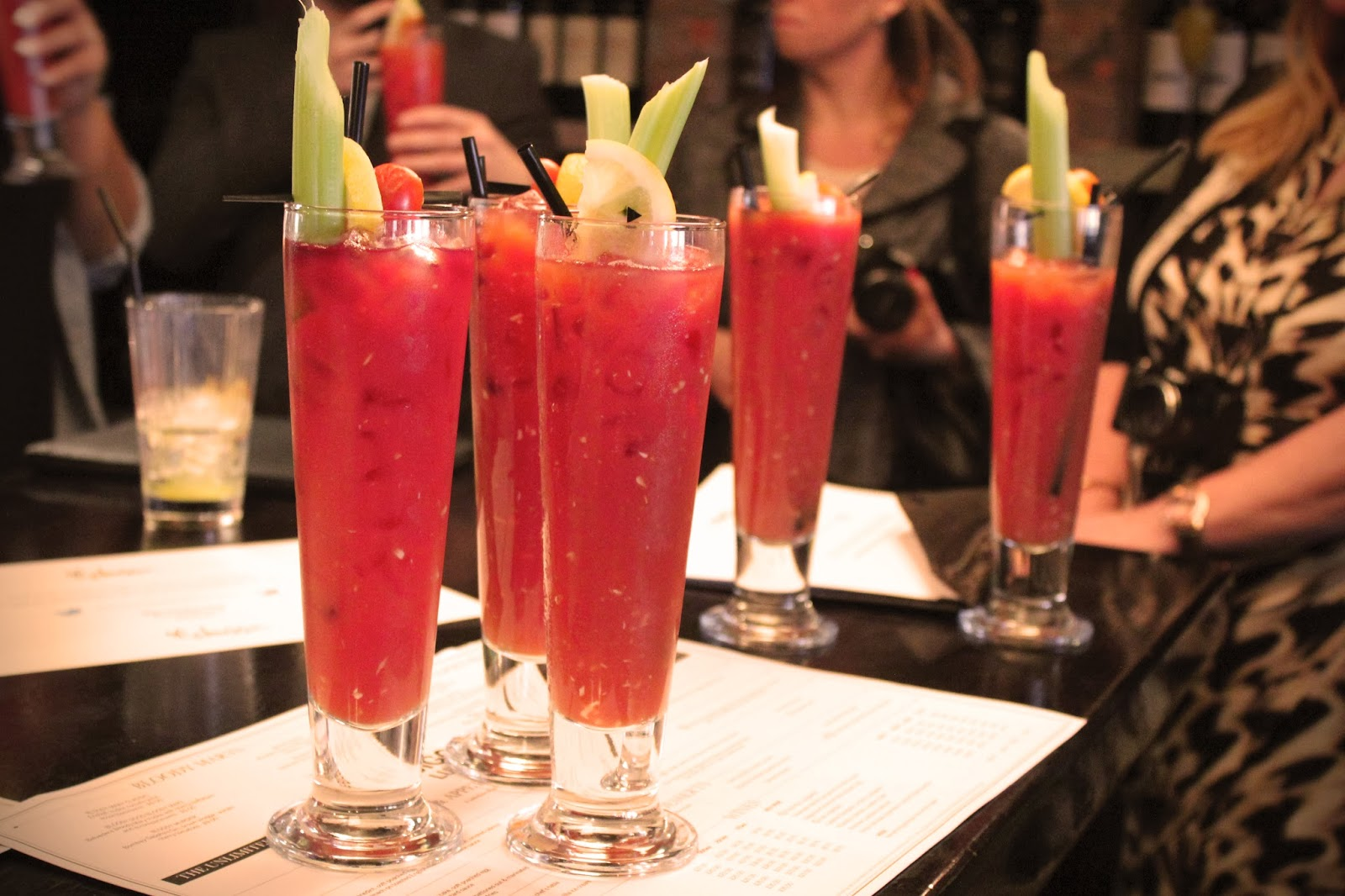 Bloody Mary's with Sunday Brunch at the Malmaison Hotel in Birmingham