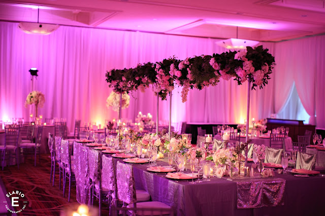 The Sagamore Wedding - Lake George, NY - Flowers - Table Trellis - Head Table - Reception Decor