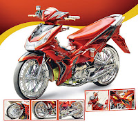 Gambar Modifikasi Suzuki Shogun 125 Funky Body