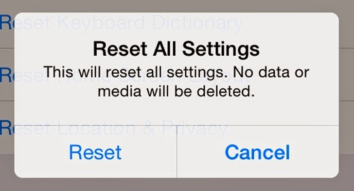 iOS 8 'Reset All Settings' Bug Could Delete Your iCloud Files