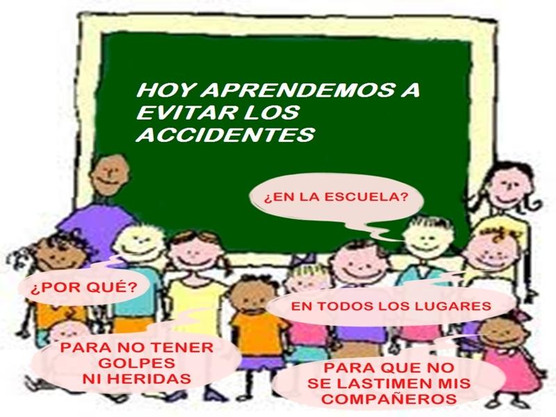 AFICHES ACCIDENTES EN LA ESCUELA  CORRE SALTA Y CUIDATE