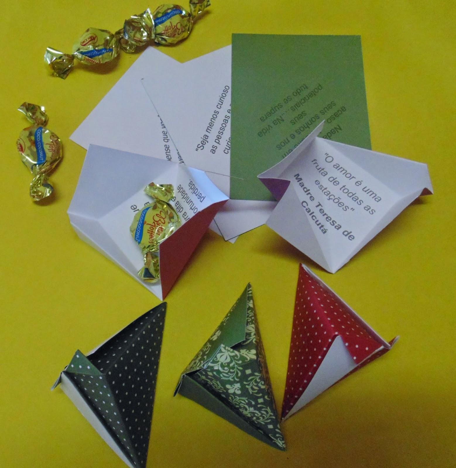 origami box mensagem