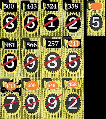 Thailand Lottery VIP Cut Digit 16 05 2013