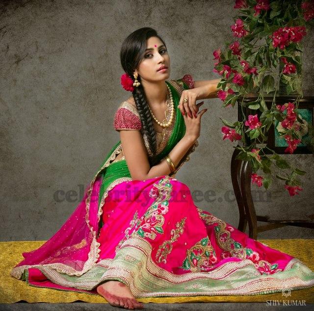 Pink Classy Half Saree by Bhargavi
