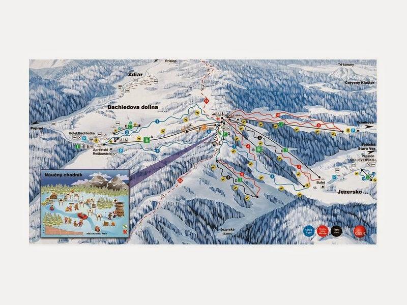 Bachledova dolina trasy