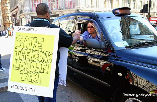 Taxi Protest Oxford Street London TfL Transport for London