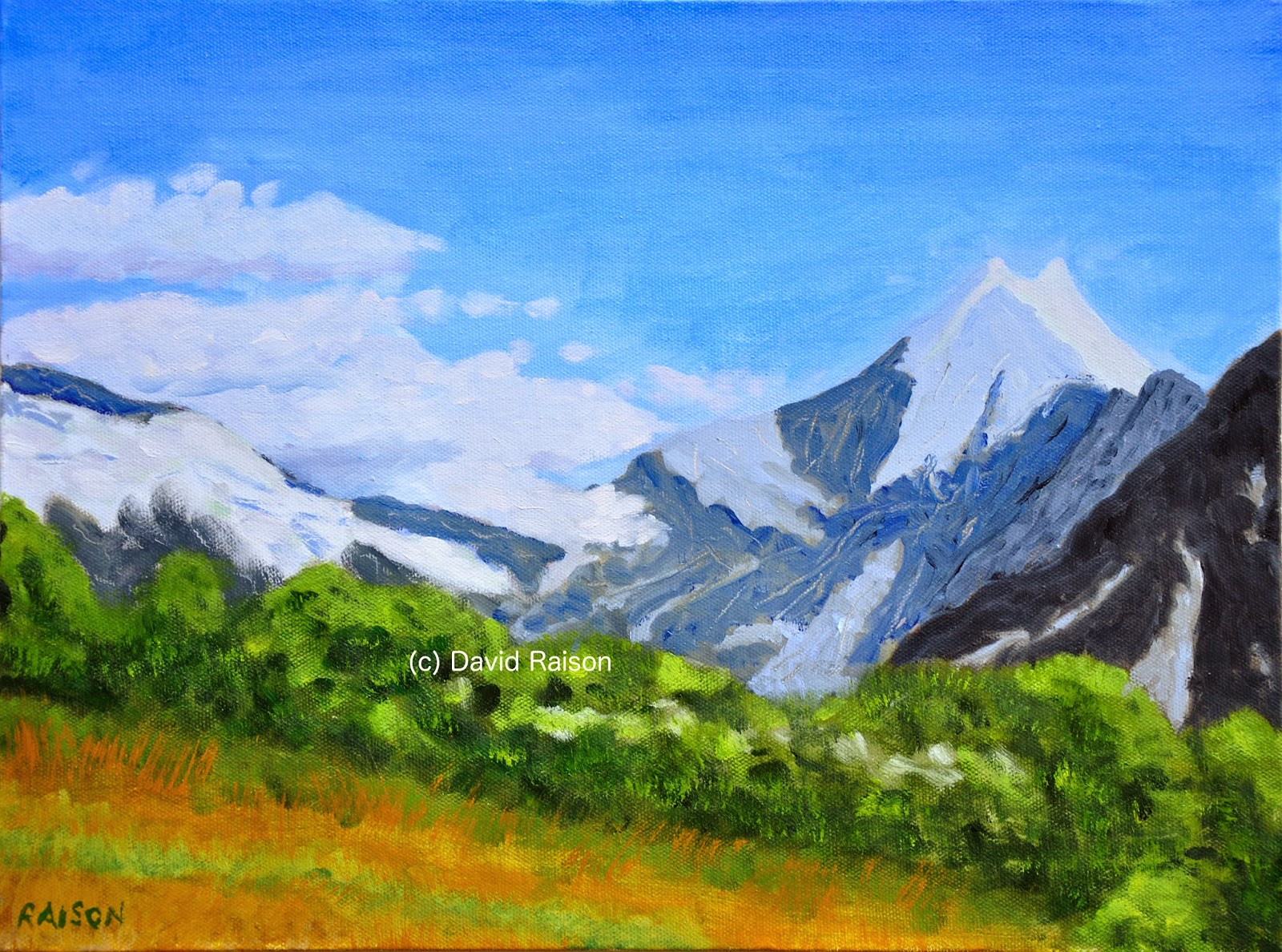 David raisons art blog mount cook painting for sale mount cook is now ready for sale via my website at davidraison heres a view of the painting its in oils on a deep edge canvas so does not publicscrutiny Image collections