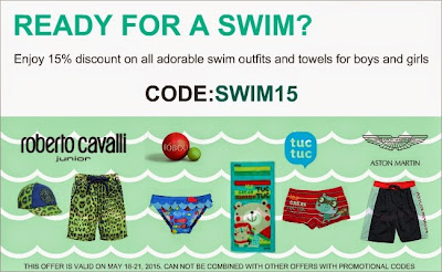 READY FOR A SWIM? ENJOY 15% OFF ON ALL CHILDREN'S SWIMWEAR AND BEACH TOWELS