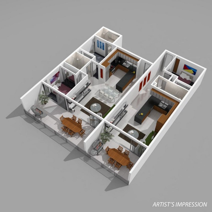 3D Floor Plan Painting 5