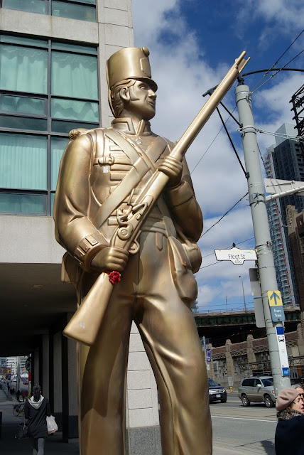 Explore, Toronto, Public, Art, Installations, Douglas Coupland, Travel, Tour, Tourist, Attractions, My City, Citylife, Culture, Artmatters, Statues, MOCCA, The Purple Scarf, Melanie.Ps, Ontario, Canada, Toy Soldiers, War of 1812, British, Fort York