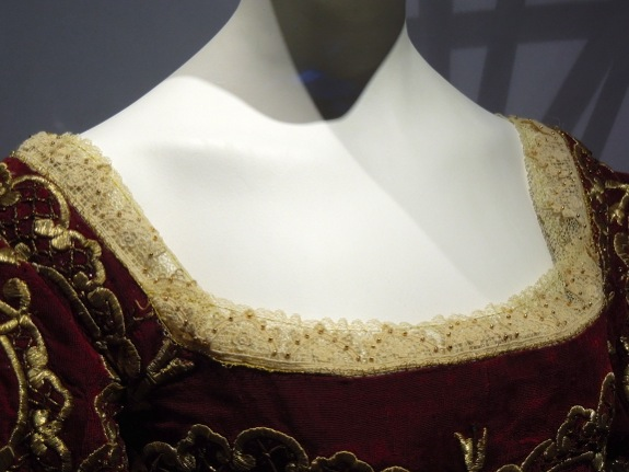 Snow White coronation gown detail