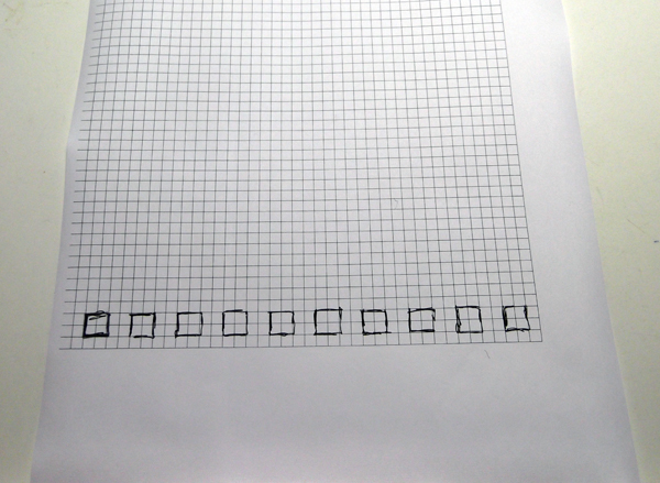 create a pattern, draw a pattern, pattern on grid, how to draw a pattern