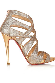 Balota 120 glitter-finish multi-strap sandals Christian Louboutin ...