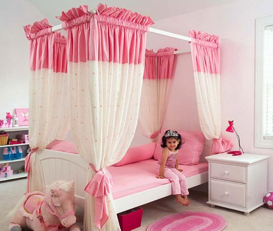 Pink luxury suite cool ideas for pink girls bedroom - Cool designs for girls ...