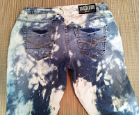 Bleach Tye Dye Capri on UpcycleFever
