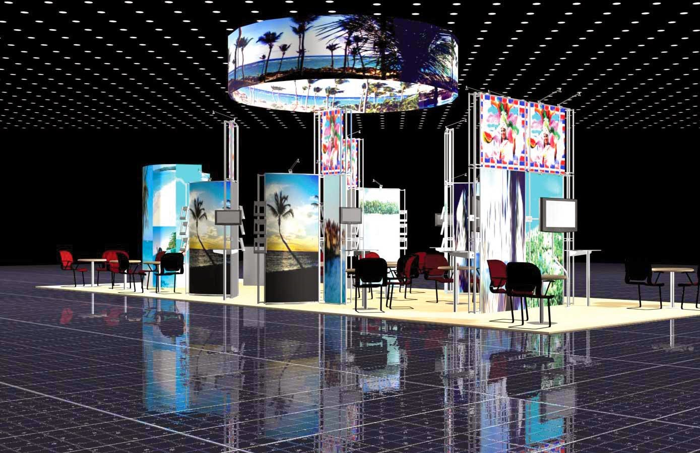 Trade show stands and pull up banners or exhibition stands for Trade exhibition