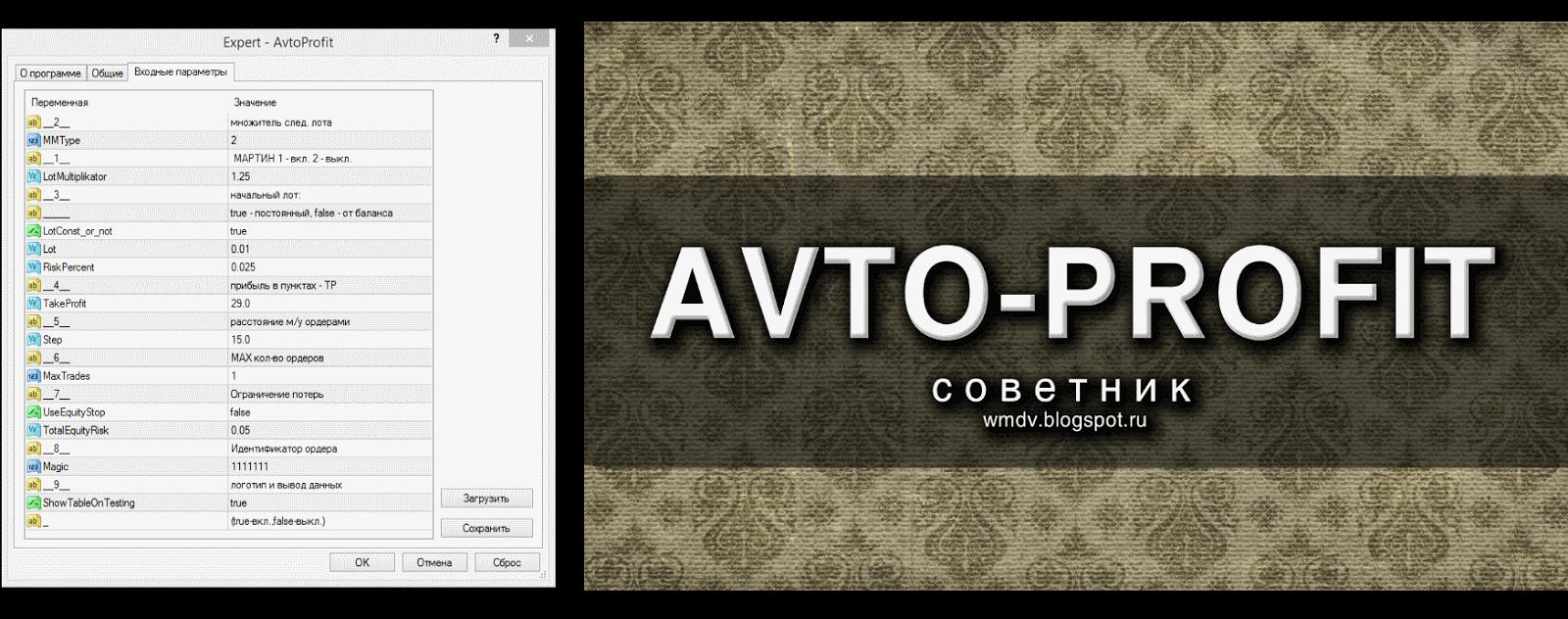 настройки Avto-Profit советника