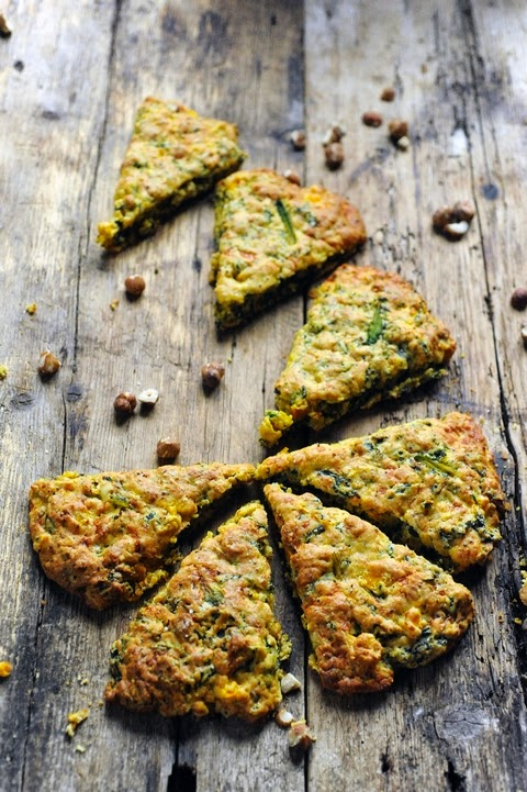 Mes chers légumes quand vous m'tenez ! Comme des scones au kale, butternut et noisettes…